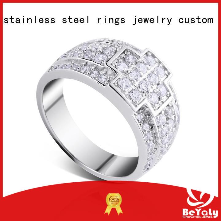 BEYALY bulk gold inital ring Supply for daily life