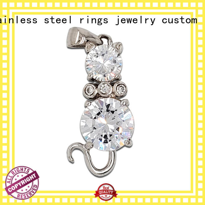 unique silver pendant necklace steel design