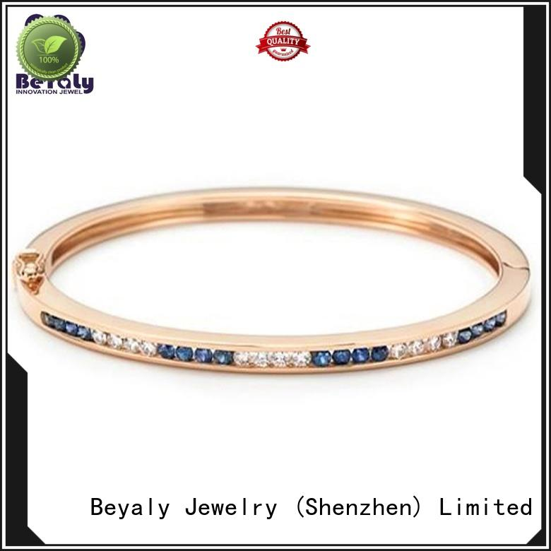 BEYALY doppel rose gold heart bangle for business for ceremony